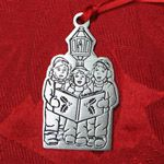 Woodbury Pewter Caroling Children Christmas Ornament