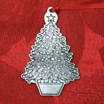 Woodbury Pewter Chrismtas Tree Christmas Ornament