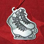 Woodbury Pewter Ice Skates Christmas Ornament
