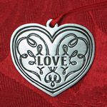 Woodbury Pewter Love Christmas Ornament