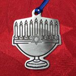 Woodbury Pewter Menorah Holiday Ornament