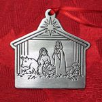 Woodbury Pewter Nativity Christmas Ornament