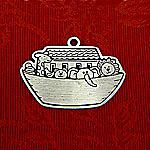 Woodbury Pewter Noah's Ark Christmas Ornament