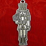 Woodbury Pewter Nutcracker Christmas Ornament
