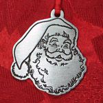 Woodbury Pewter Santa Claus Portraitl Christmas Ornament