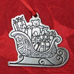 Woodbury Pewter Sleigh Christmas Ornament