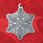 Woodbury Pewter Snowflake Christmas Ornament