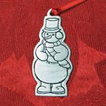 Woodbury Pewter Snowman Christmas Ornament