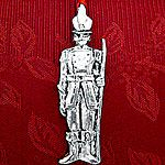 Woodbury Pewter Sculptured Toy Soldier Christmas Ornament