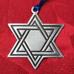 Woodbury Pewter Star of David Holiday Ornament