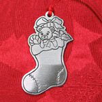 Woodbury Pewter Stocking Christmas Ornament