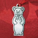 Woodbury Pewter Teddy Bear Christmas Ornament