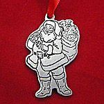 Woodbury Pewter Santa Claus Christmas Ornament