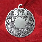Woodbury Pewter Wreath Christmas Ornament
