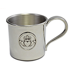 Claddagh Pewter Baby Cup
