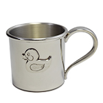 Duck Pewter Baby Cup