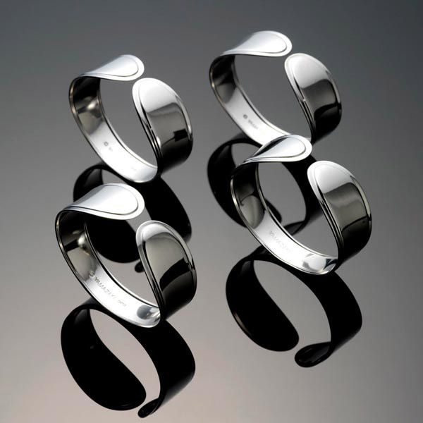 Yamazaki Hospitality Stainless Steel Napkin Rings Larger Image