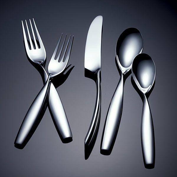 Swivel by yamazaki stainless flatware for less - Yamazaki stainless steel flatware ...