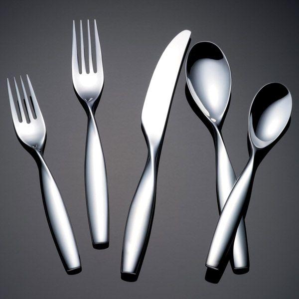 Yamazaki twirl stainless flatware for less at silver superstore - Yamazaki stainless steel flatware ...