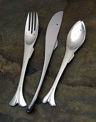 Yamazaki gone fishin stainless flatware at discount - Gone fishin flatware ...