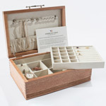 American Chest Company Americana Jewelry Chest with Soft-Suede Linings