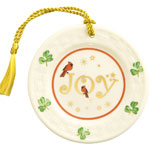 Joy Plate Christmas Ornament