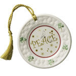 Peace Plate Christmas Ornament