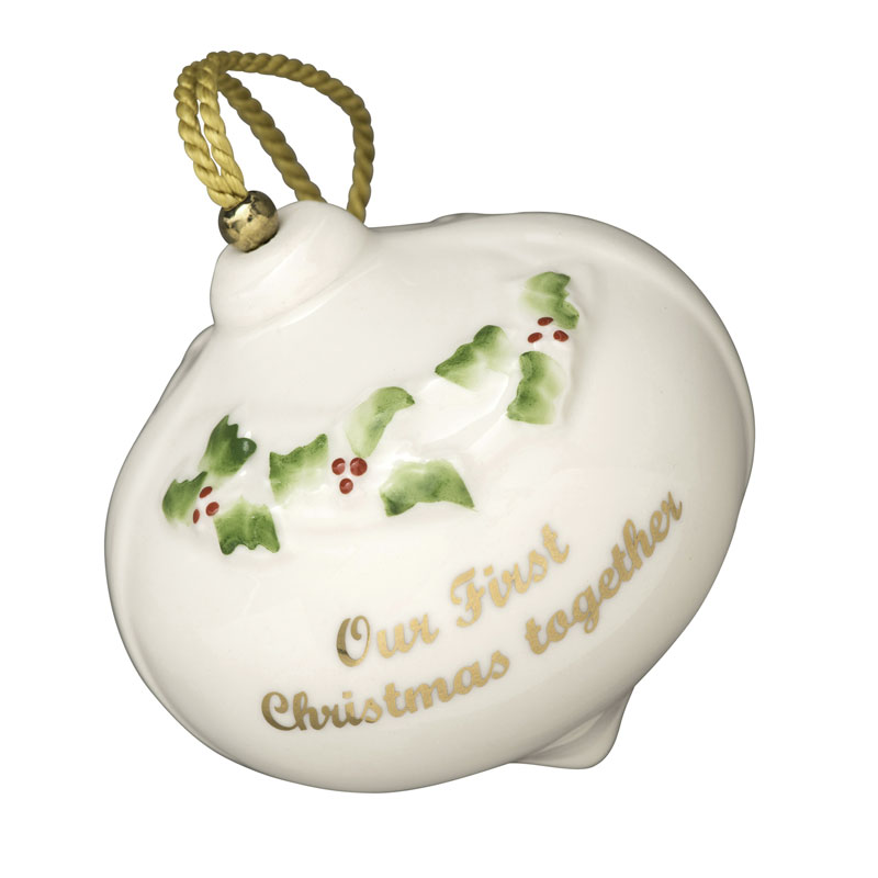 Our first christmas ornament belleek ornaments