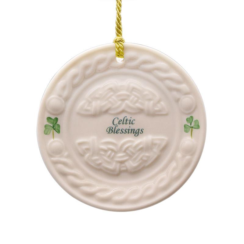 Celtic Blessing Christmas Ornament 2017 | Belleek Porcelain Ornament