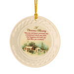 Christmas Scene Christmas Ornament by Belleek