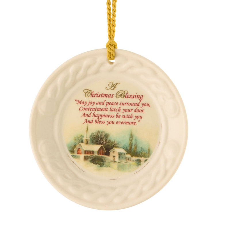 2018 Christmas Scene Christmas Ornament | Belleek Christmas Tree Decoration | Christmas Scene Ornament