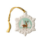 Reindeer Snowflake Christmas Ornament by Belleek