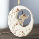 2019 Belleek Nativity Angel Hanging Ornament