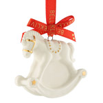 Belleek Rocking Horse Mini Porcelain Ornament