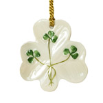 Shamrock Shaped Christmas Ornament
