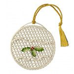 Basket Bauble Christmas Ornament
