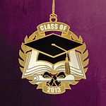2013 ChemArt Graduation Brass Christmas Ornament