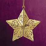 2013 ChemArt Annual Star Brass Christmas Ornament