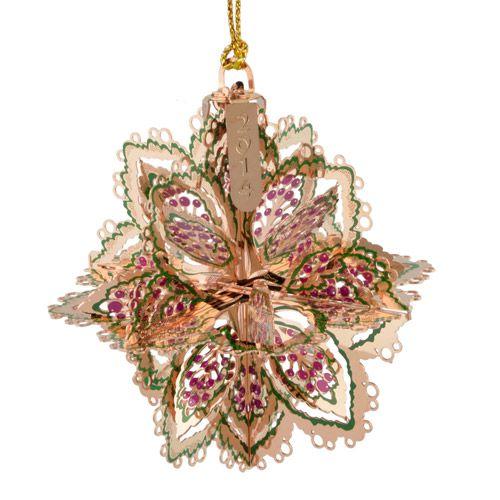 2014 chemart annual snowflake brass christmas ornament