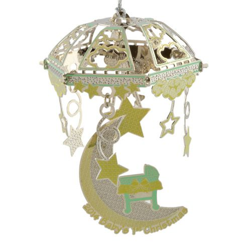 2015 ChemArt Baby's First Christmas Moon Ornament
