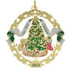 ChemArt 2014 Our First Christmas Brass Christmas Ornament