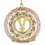 ChemArt 2014 Our Wedding Christmas Brass Christmas Ornament