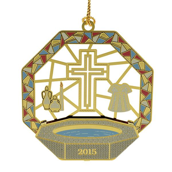 Christening Ornaments Baby Christmas Ornaments: 2015 ChemArt Baptism Ornament