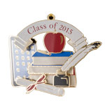 2015 ChemArt Graduation Brass Christmas Ornament