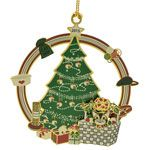 2015 ChemArt Baby's First Christmas Brass Christmas Ornament