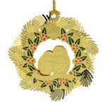 2015 ChemArt Our First Christmas Brass Christmas Ornament