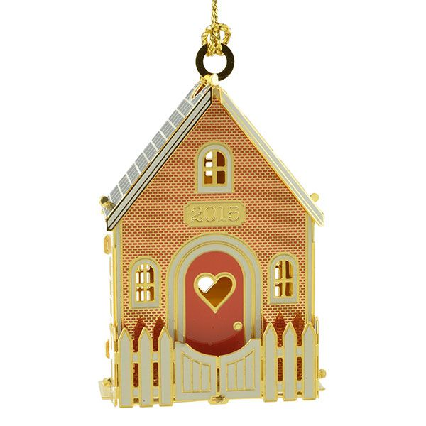 2015 ChemArt Our New Home Brass Christmas Ornament