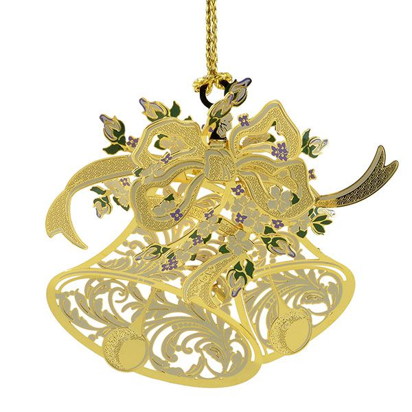 Chemart our wedding brass christmas ornament