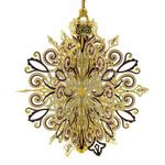 2015 ChemArt Annual Snowflake Brass Christmas Ornament