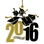 2016 ChemArt Graduation Brass Christmas Ornament